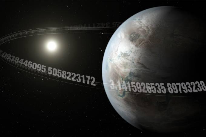 """Astrônomos encontram """"planeta Pi"""", que demora 3.14 dias para dar uma volta em sua estrela"""