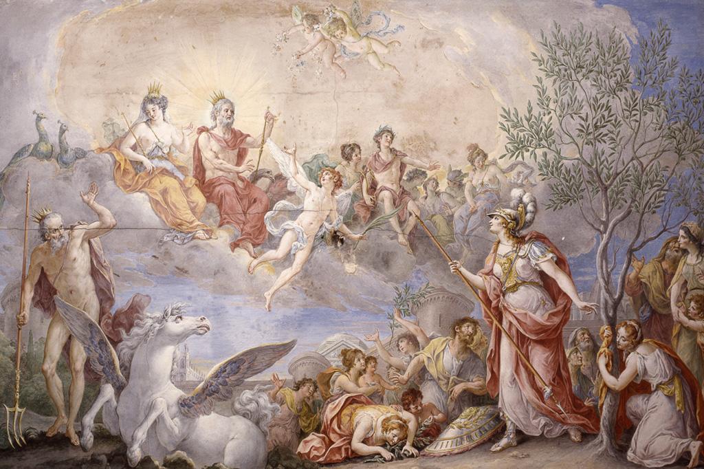 <strong>Filha preferida de Zeus, que admira sua visão estratégica, a guerreira Atena é a protetora dos heróis mitológicos.</strong>