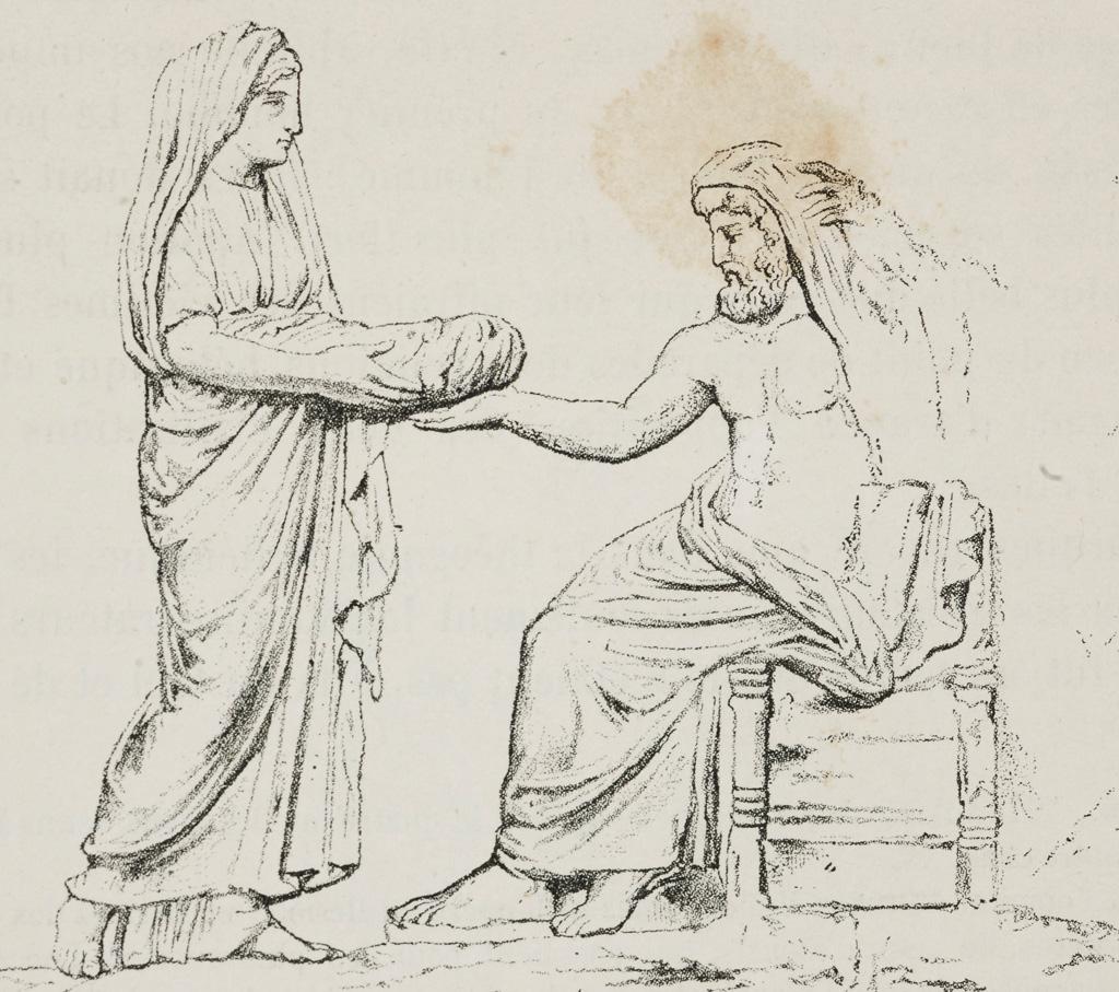 <strong>Reia dá uma pedra, em vez de Zeus, para Cronos comer. E assim poupa a vida do maior dos deuses.</strong>