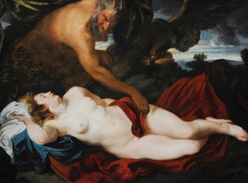 <strong>Zeus se transforma em sátiro (ser híbrido de homem e bode) para seduzir a princesa Antíope.</strong>