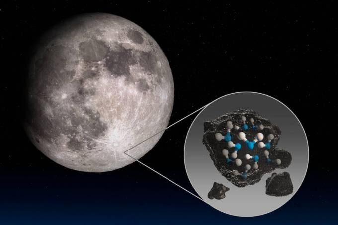 NASA encontra água no lado iluminado da Lua pela primeira vez