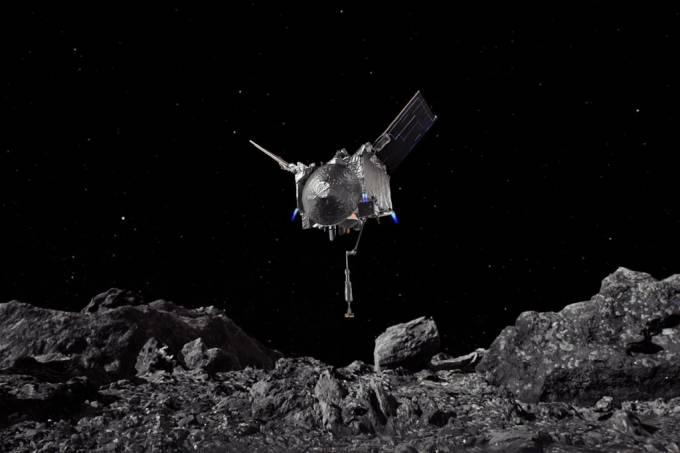 Sonda da Nasa coleta amostra de asteroide