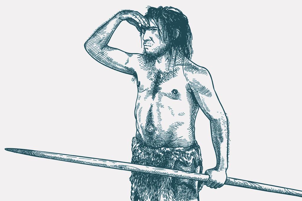 <strong>Concepção artística mostra um neandertal, parente próximo da humanidade que se extinguiu há 35 mil anos.</strong>