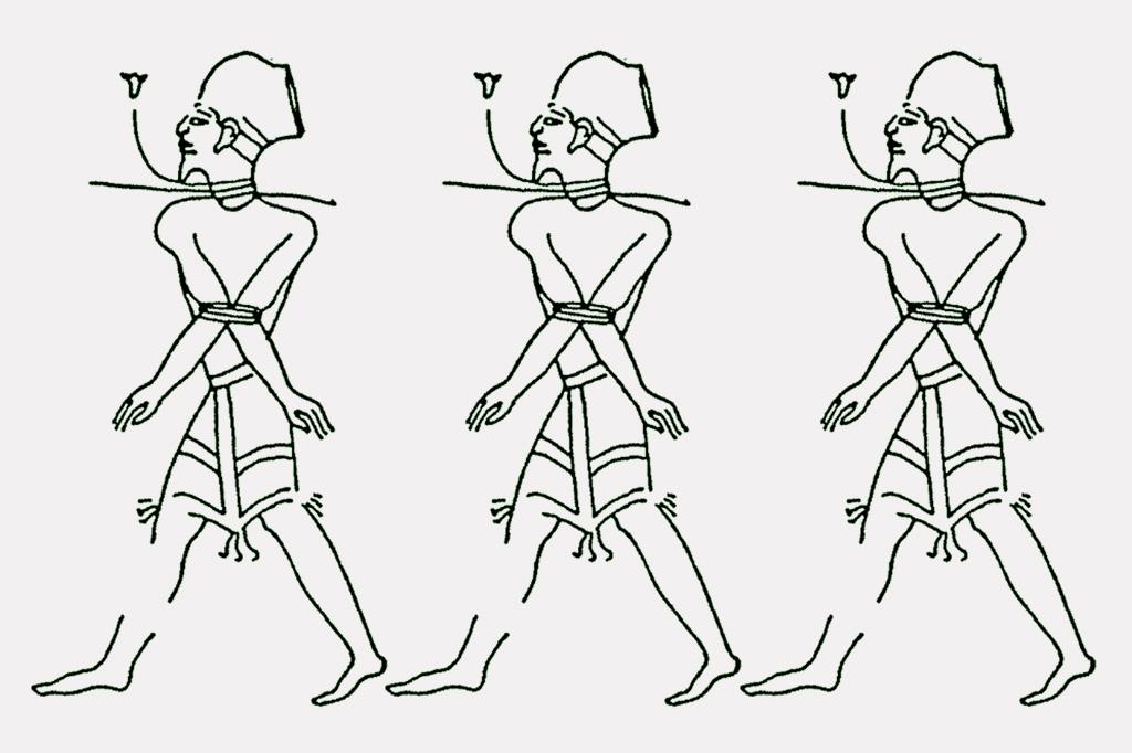 <strong>Representação egípcia dos beduínos Shasu, que podem ter sido ancestrais dos israelitas.</strong>