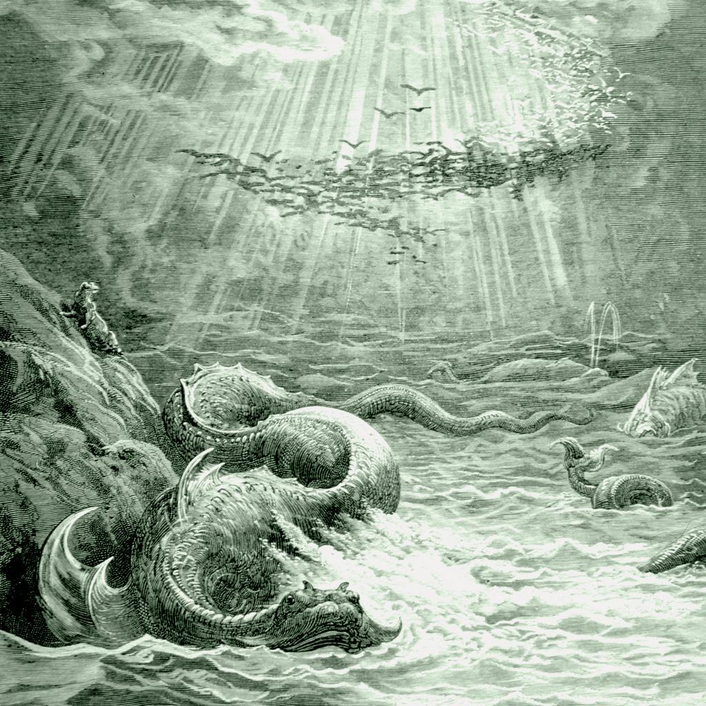 <strong>Leviatã, monstro marinho citado na Bíblia, tem semelhanças com figuras de outras mitologias do Oriente Próximo.</strong>