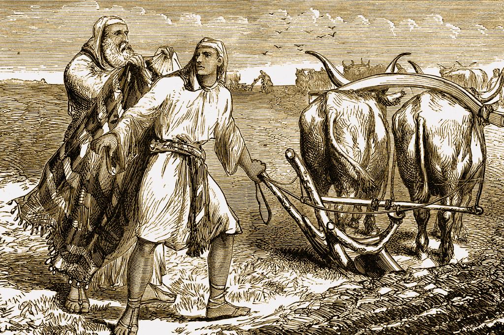 <strong>O profeta Elias lança seu manto sobre Eliseu, seu sucessor no reino do Norte.</strong>