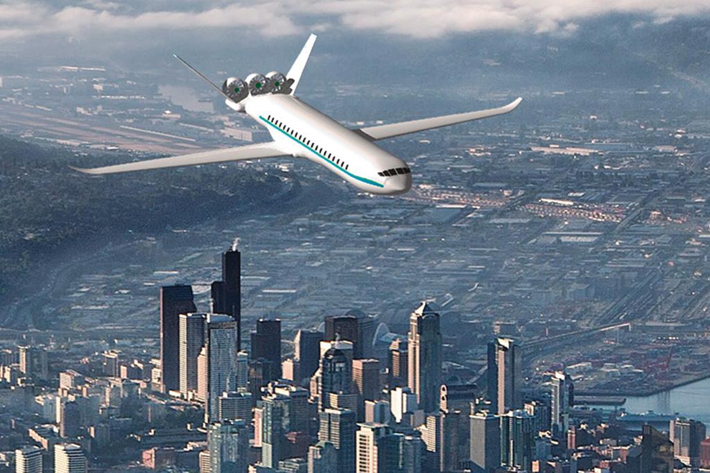 <strong>Financiada pela Boeing, a Zunum desenvolve um híbrido para 12 passageiros e autonomia de 1.600 km.</strong>