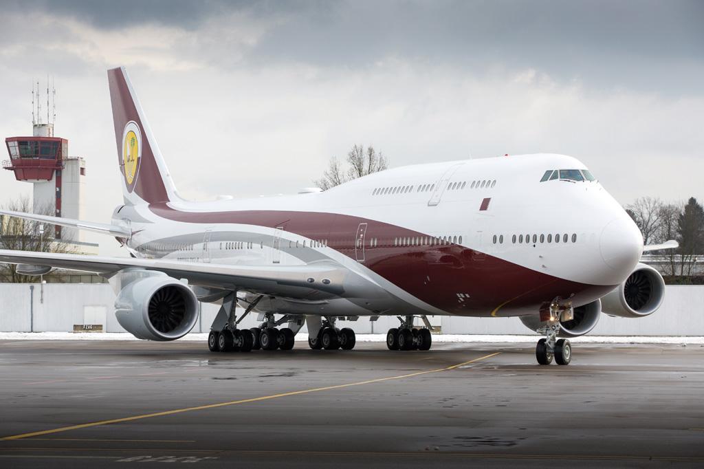 <strong>Boeing 747-8i da Amiri Flight, da família real do Catar: modelo está à venda por US$ 500 milhões.</strong>