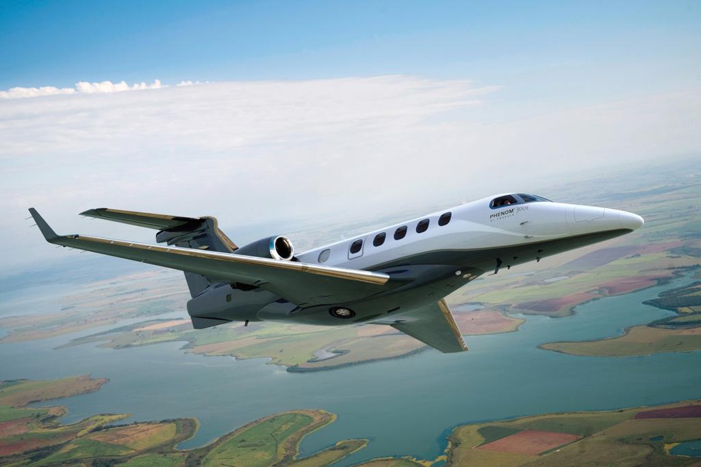 <strong>Phenom 300E, da Embraer, é o jato executivo mais vendido do mundo.</strong>