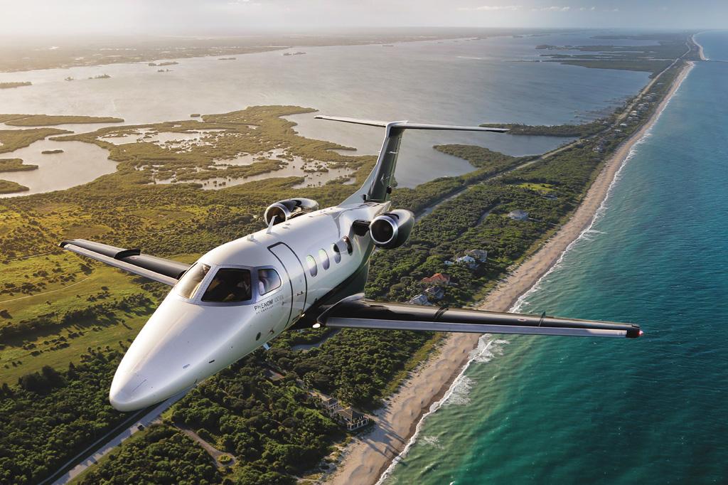 <strong>Phenom 100EV: no mercado desde 2017, avião opera em condições de grande altitude e temperatura elevada.</strong>