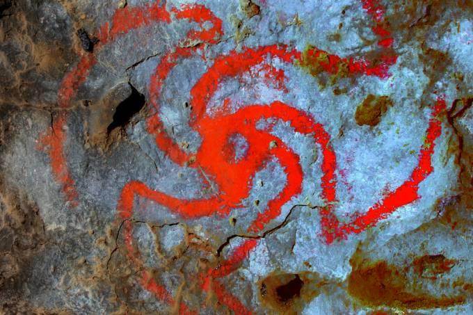 Pintura em caverna da Califórnia indica uso de alucinógenos