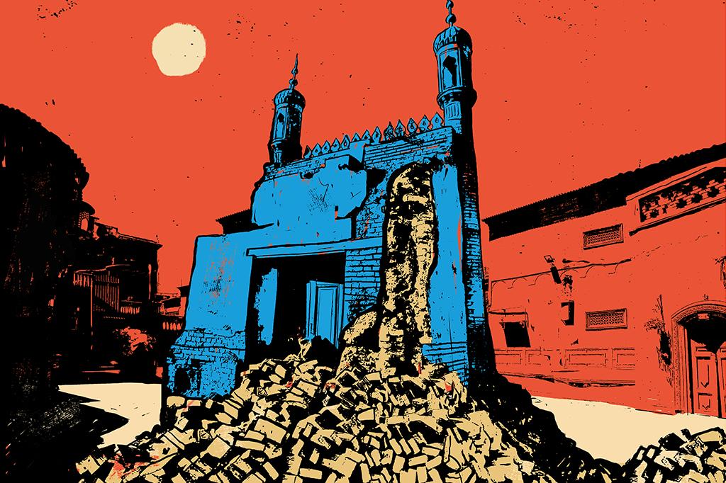 16 mil mesquitas, ou 65% do total existente na região de Xinjiang, foram depredadas ou destruídas nos últimos anos.