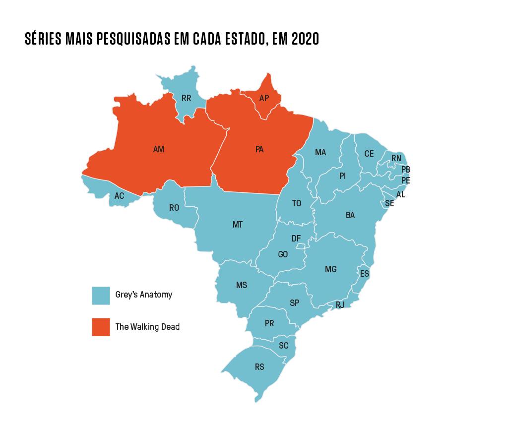 Ilustração do mapa do Brasil.