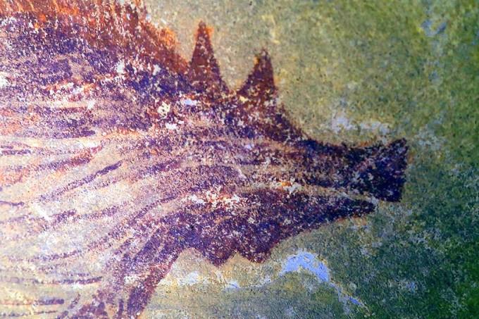 Pintura de animais mais antiga do mundo descoberta em caverna na Indonésia