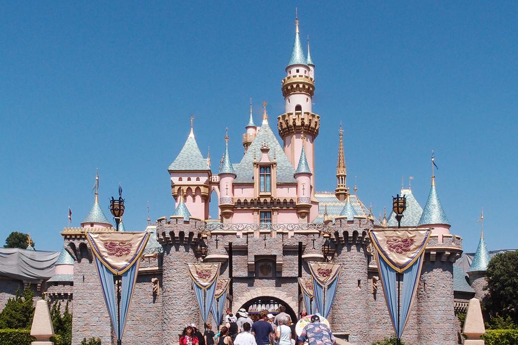 Castelo da Bela Adormecida na Disneylândia.