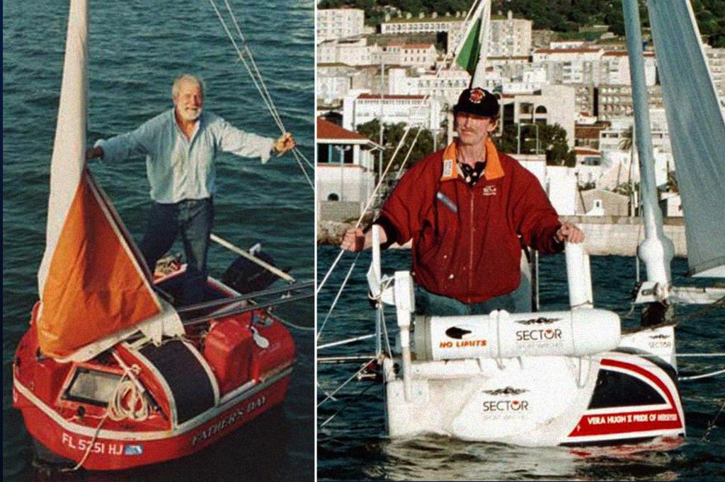 Imagem mostrando os tamanhos dos barcos de Hugo Vihlen e de Tom Mcnally.