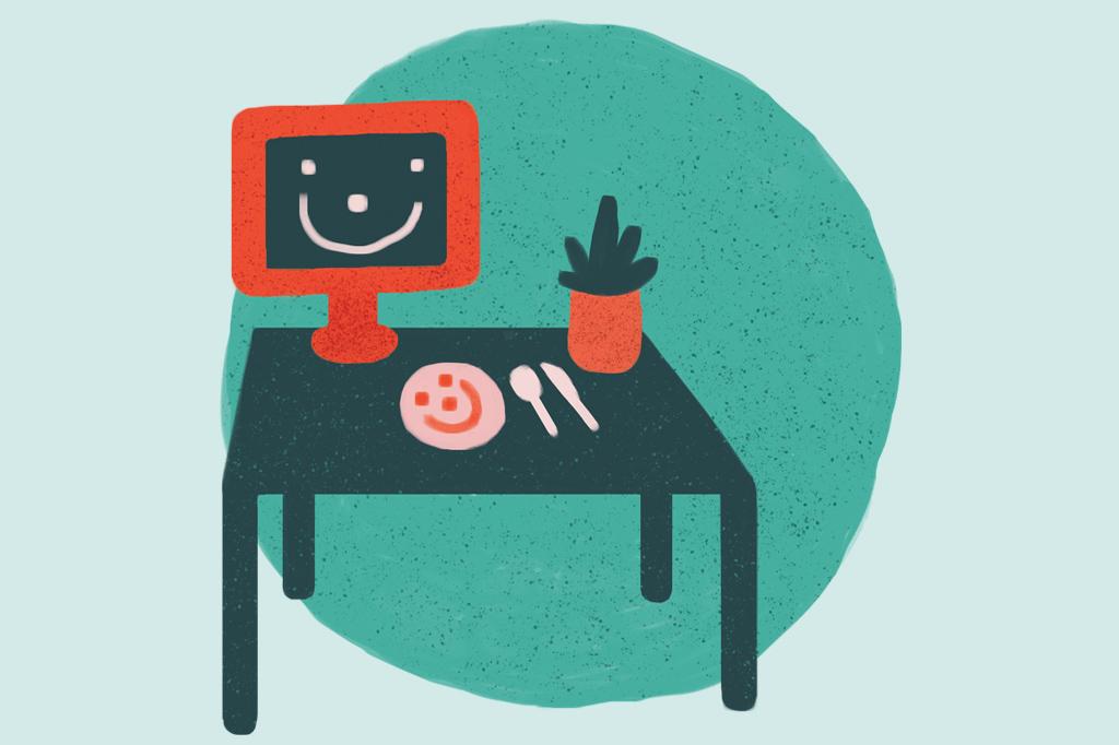 Como decorar a casa por conta própria? Se você faz home office e almoça no mesmo cômodo, ache uma mesa que sirva para as duas coisas.