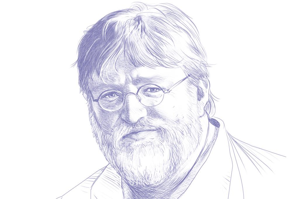 Gênios dos vídeo games. Gabe Newell.