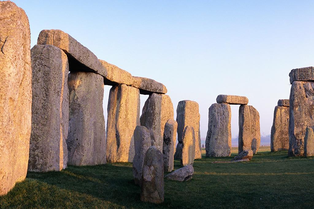 Stonehenge ao entardecer.