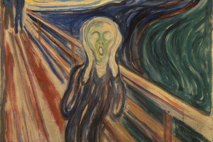 """Frase secreta rabiscada em """"O Grito"""" foi escrita pelo próprio artista, sugerem pesquisadores"""