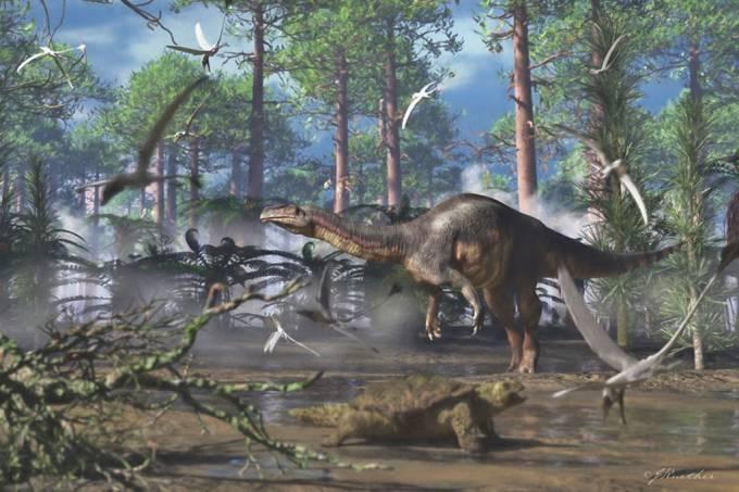 Clima estimulou migração de dinossauros do Brasil a Groenlândia há 214 milhões de anos