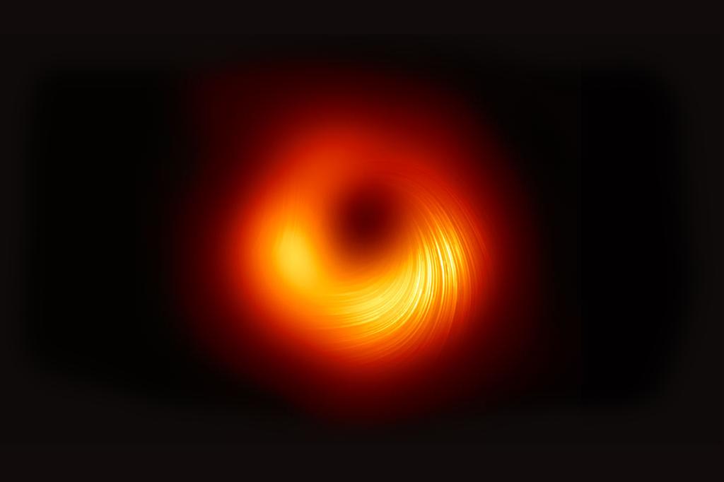 Imagem mostrando um buraco negro.