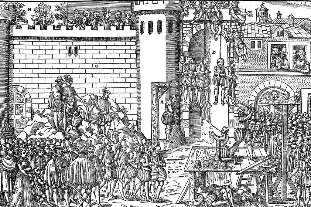Execução de conspiradores em Amboise.