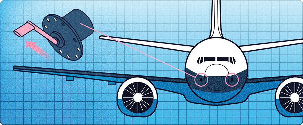 Cada lado do nariz tem um sensor de ângulo de ataque (uma palheta de metal que indica a posição do jato em relação à linha do horizonte). Se a leitura de ambos divergir, o MCAS não é mais acionado.
