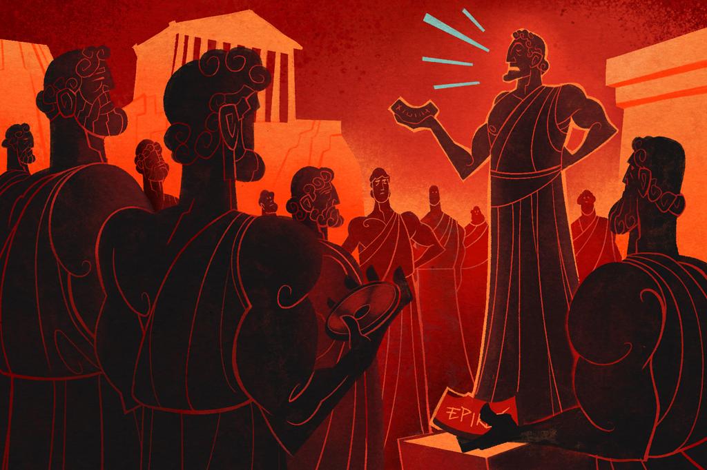 """Ostracismo: o """"rei do camarote"""" de Atenas foi exilado duas vezes."""