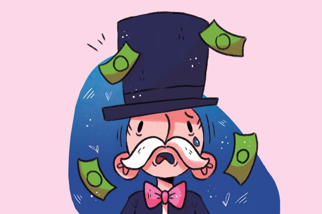 Ilustração do banqueiro do jogo Banco Imobiliário.