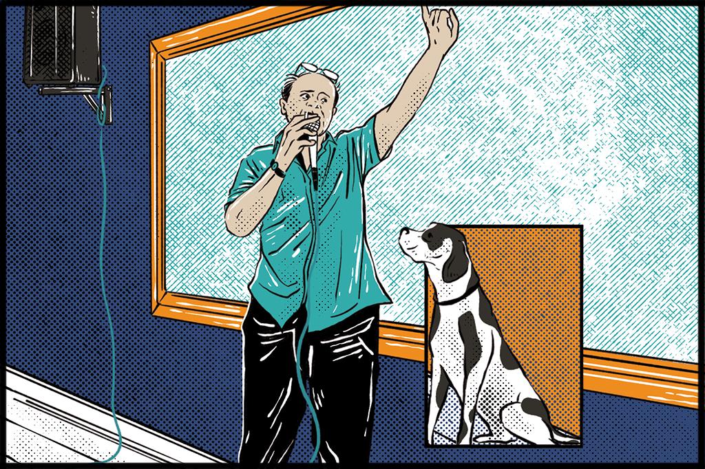 Lattes andava pela universidade com seu cão Gaúcho, que, diz a lenda, era o único que <em>realmente</em> entendia mecânica quântica.