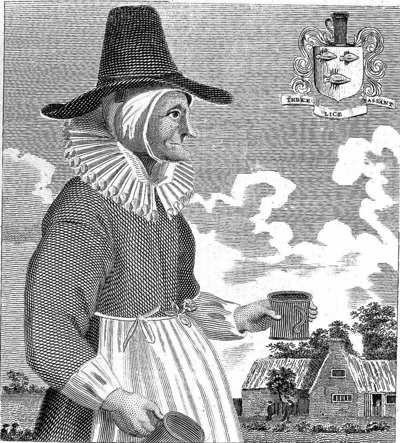 Mother Louise, produtora de cerveja em Oxford, no século 17.