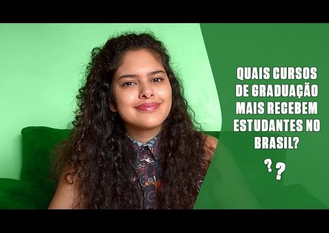 Quais cursos de graduação mais recebem estudantes no Brasil?