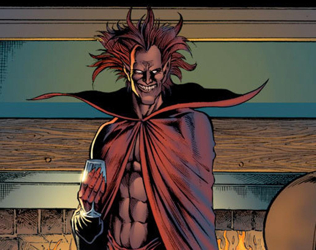 Ilustração do Mefisto, personagem da Marvel.