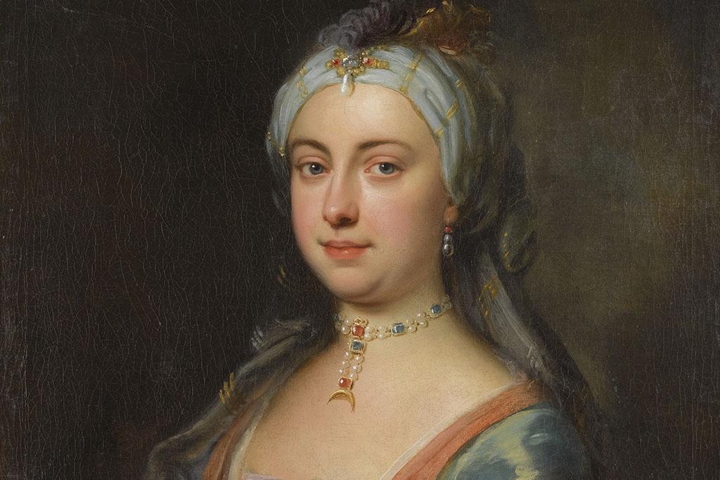 Retrato de Lady Mary Wortley Montagu (1689-1762).