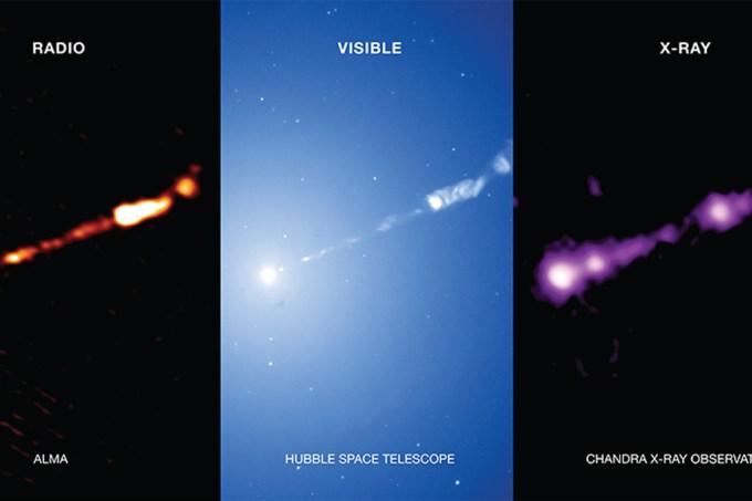Novas fotos do buranco negro M87 em todos os comprimentos de onda