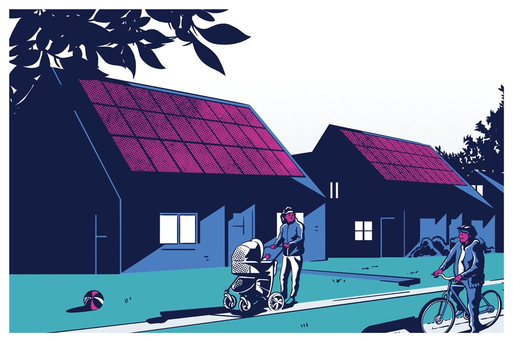 """Ampliar a """"auto-produção"""" de energia solar, nas quais residências também alimentam a rede elétrica, é um dos objetivos do governo Biden."""