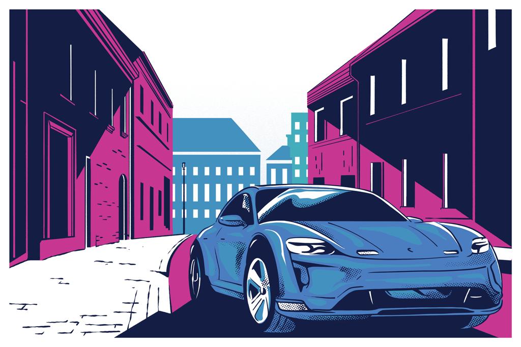 Novas leis europeias impulsionam as montadoras a lançar cada vez mais modelos elétricos. Até a Porsche agora tem o seu, o Taycan, lançado em 2019 – e mais barato que um 911.