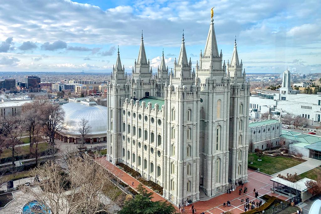 Foto do Templo de Salt Lake.
