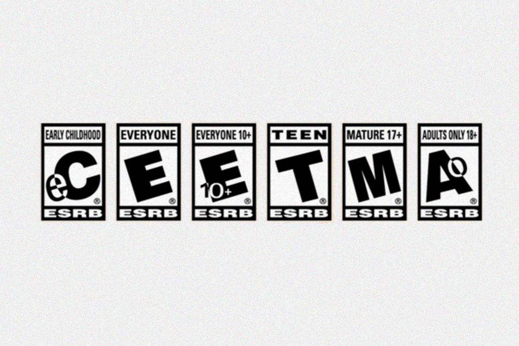 Imagem mostrando os selos de classificação indicativa dos jogos.