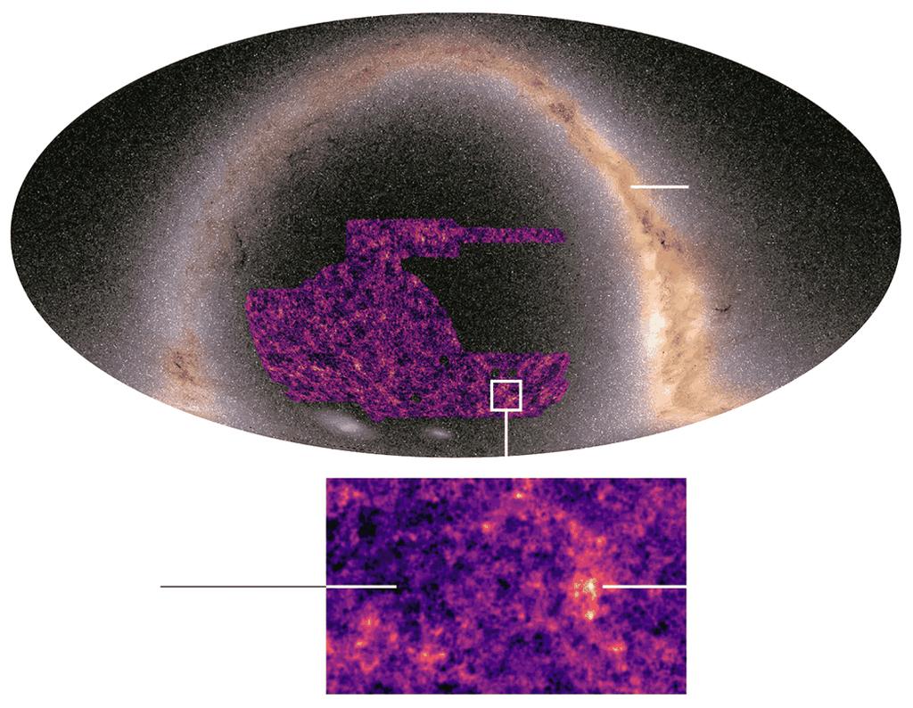 Mapa da matéria escura do universo.