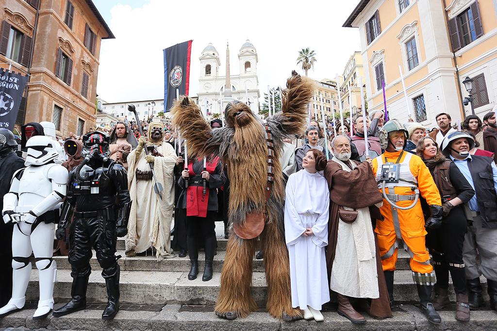 Flashmob durante o Star Wars Day 2019 em Roma.