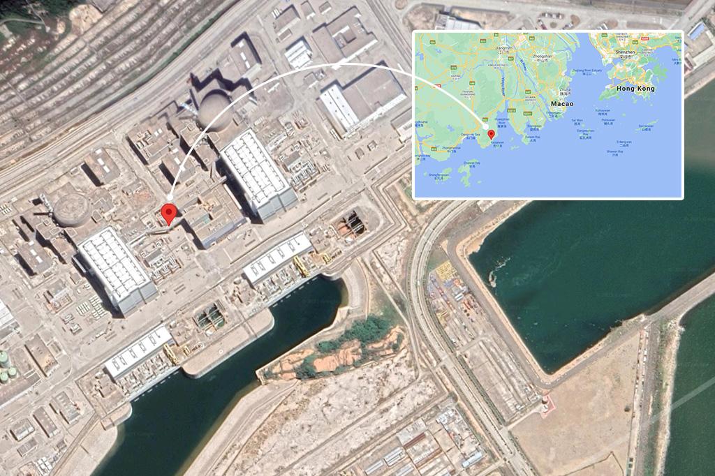 Mapa mostrando a localização da usina.