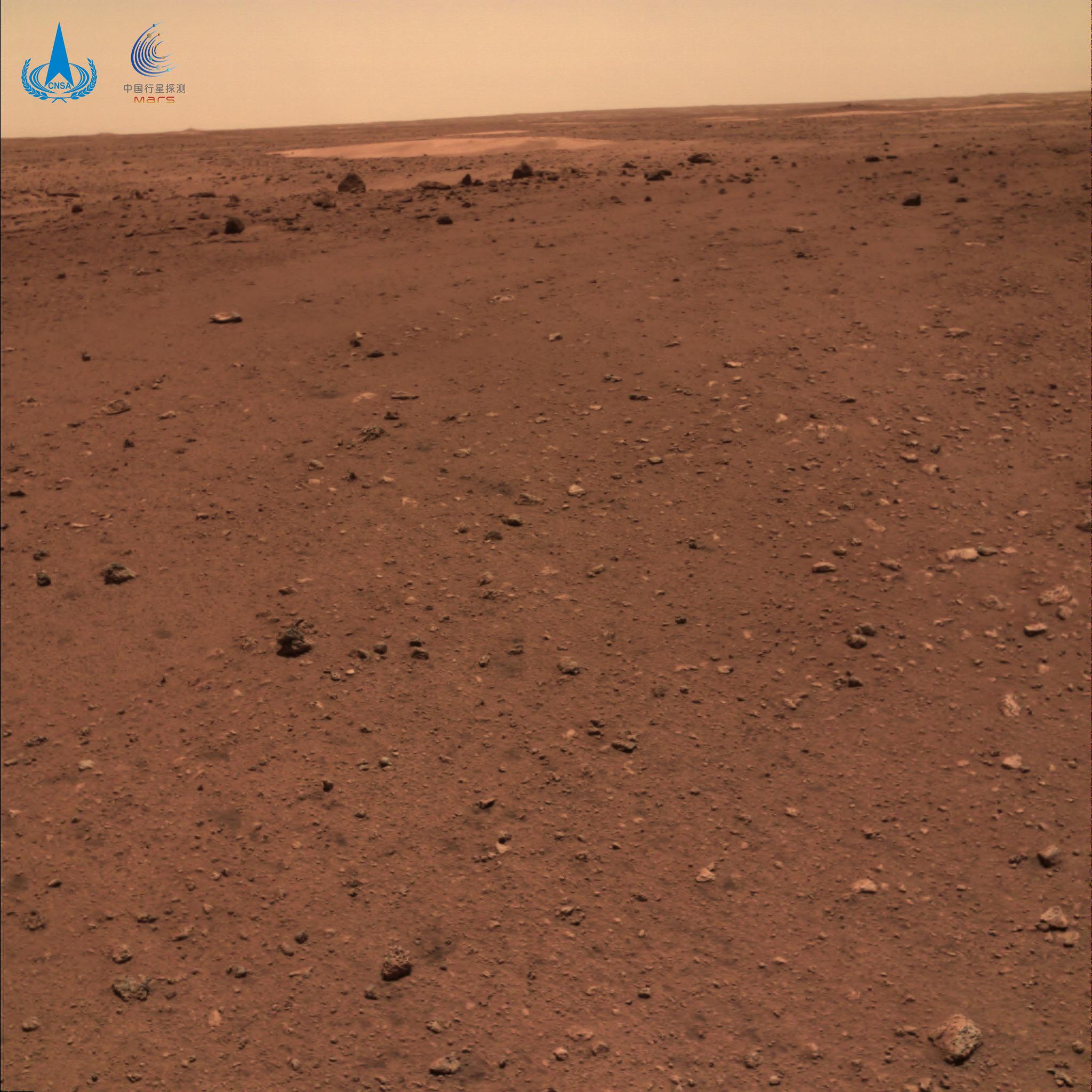 Superfície de Marte capturada pelo rover Zhurong Mars