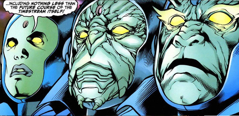 Os Guardiões do Tempo: Ast, Vort e Zanth.