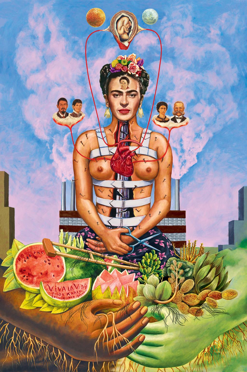 Ilustração da Frida Kahlo.