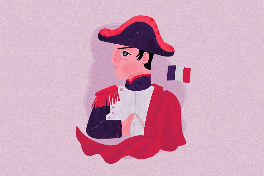 Ilustração de Napoleão Bonaparte.
