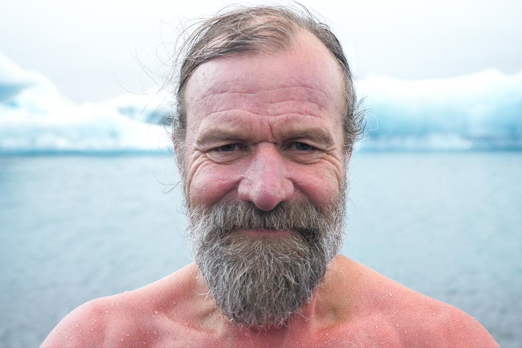 Retrato de Wim Hof.