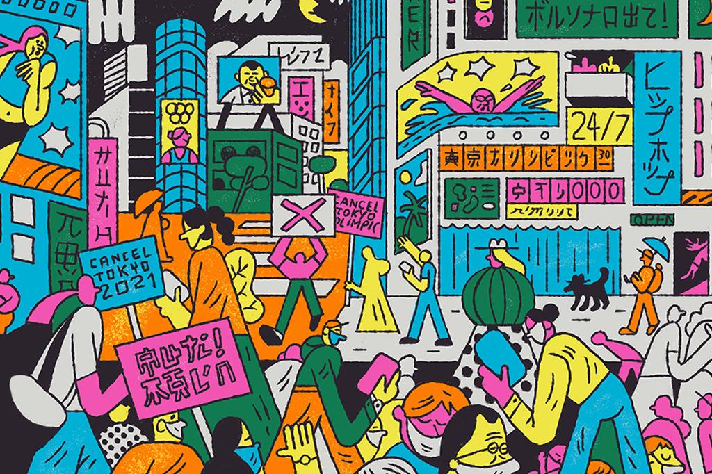Nos últimos meses, japoneses foram às ruas protestar contra a Olimpíada.