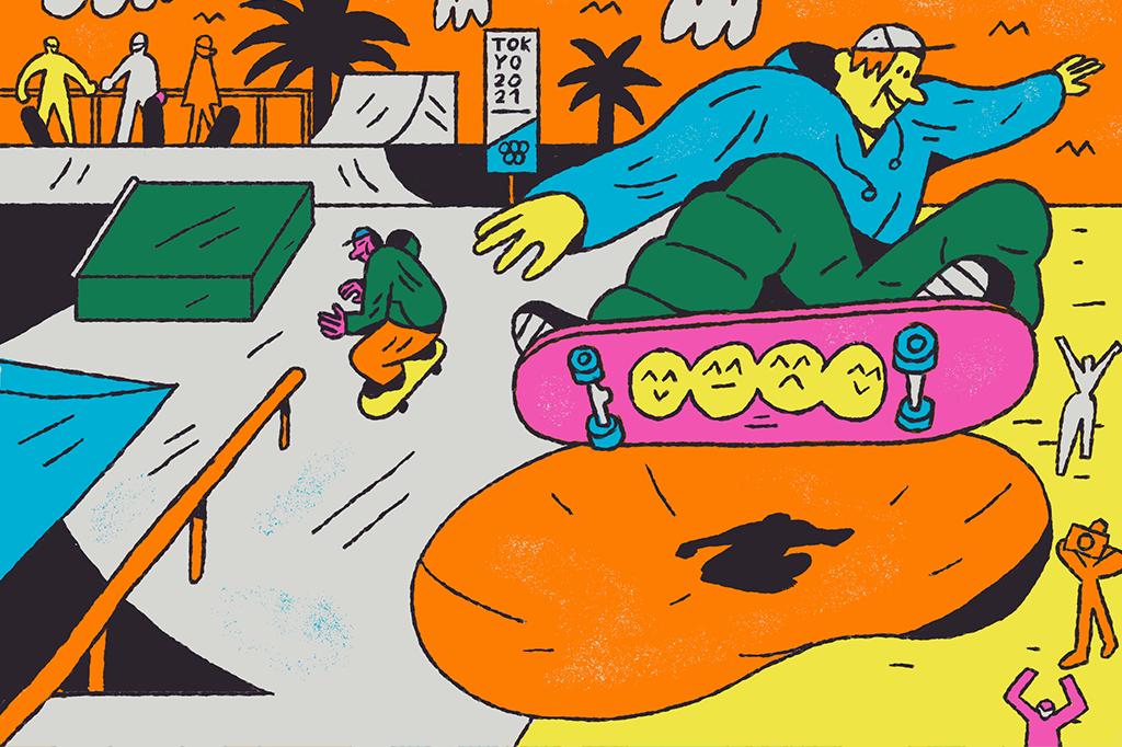 Estreante nos Jogos, o Skate é dividido em duas modalidades: street e park. Em cada uma delas, 20 atletas competem na etapa preliminar e oito avançam para a final. O Brasil levará 12 (três mulheres e três homens para cada modalidade). Destaques: Pedro Barros (park) e Kelvin Hoefler, Pâmela Rosa, Letícia Bufoni e Rayssa Leal (street).